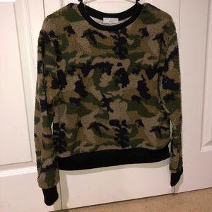 Fuzzy Camo Sweatshirt